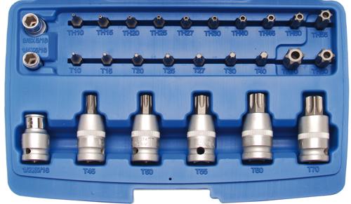 T40-T55 4-tlg. 1//2 Biteinsatz-Satz,T-Profil 12,5
