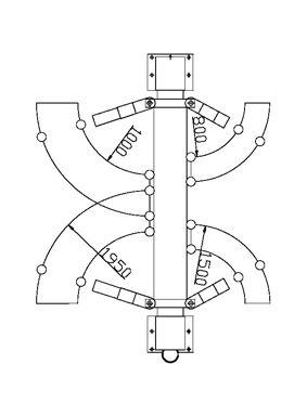 STRONG-LINE Zweisäulenhebebühne ATH 2.50HX3