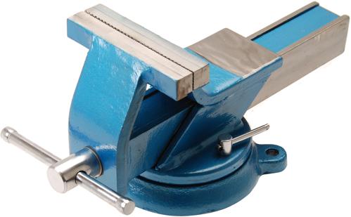 Stahl-Schraubstock   geschmiedet   150 mm Backen - Schraubstöcke ...