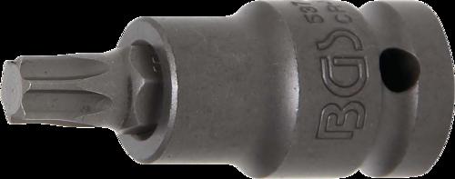 """BGS Kraft-Bit-Einsatz Innenvierkant 12,5 mm 1//2/""""/"""" T-Profil für Torx T47"""