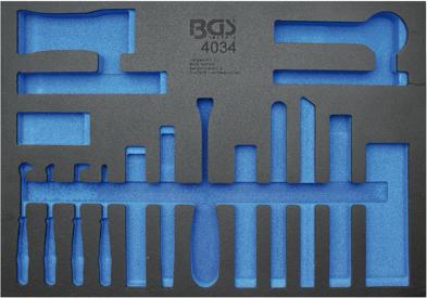 Montagekeile und Haken-Satz, BGS 4034 3//3 Werkstattwageneinlage Lösewerkzeuge
