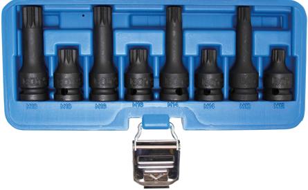 1//2 Bit-Einsatz-Satz | CV-Stahl | 12,5 mm 26-tlg BGS 5180 f/ür XZN | Innenvielzahn