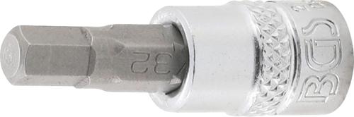 """BGS 1//4/"""" Innensechskant mit Bohrung Biteinsatz Bits Einsatz Sechskant 2-7 mm"""