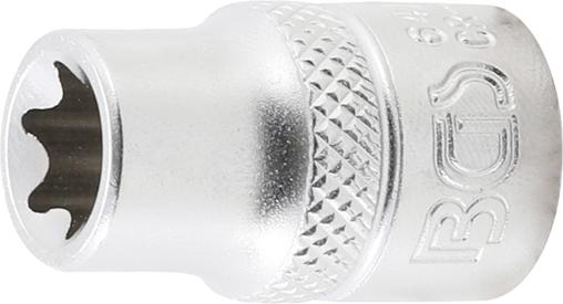E11 7-tlg 1//4 CV-Stahl | 6,3 mm | SW E4 Steckschl/üssel-Einsatz-Satz E-Profil BGS 6402